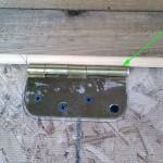 Chicken Coop Nesting Box Door Hinge Detail image