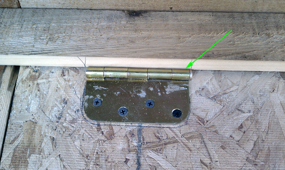 Chicken Coop Nesting Box Door Hinge Detail image