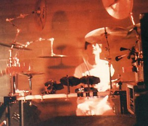 Dave Naves on Electric Drum Kit 1987 image