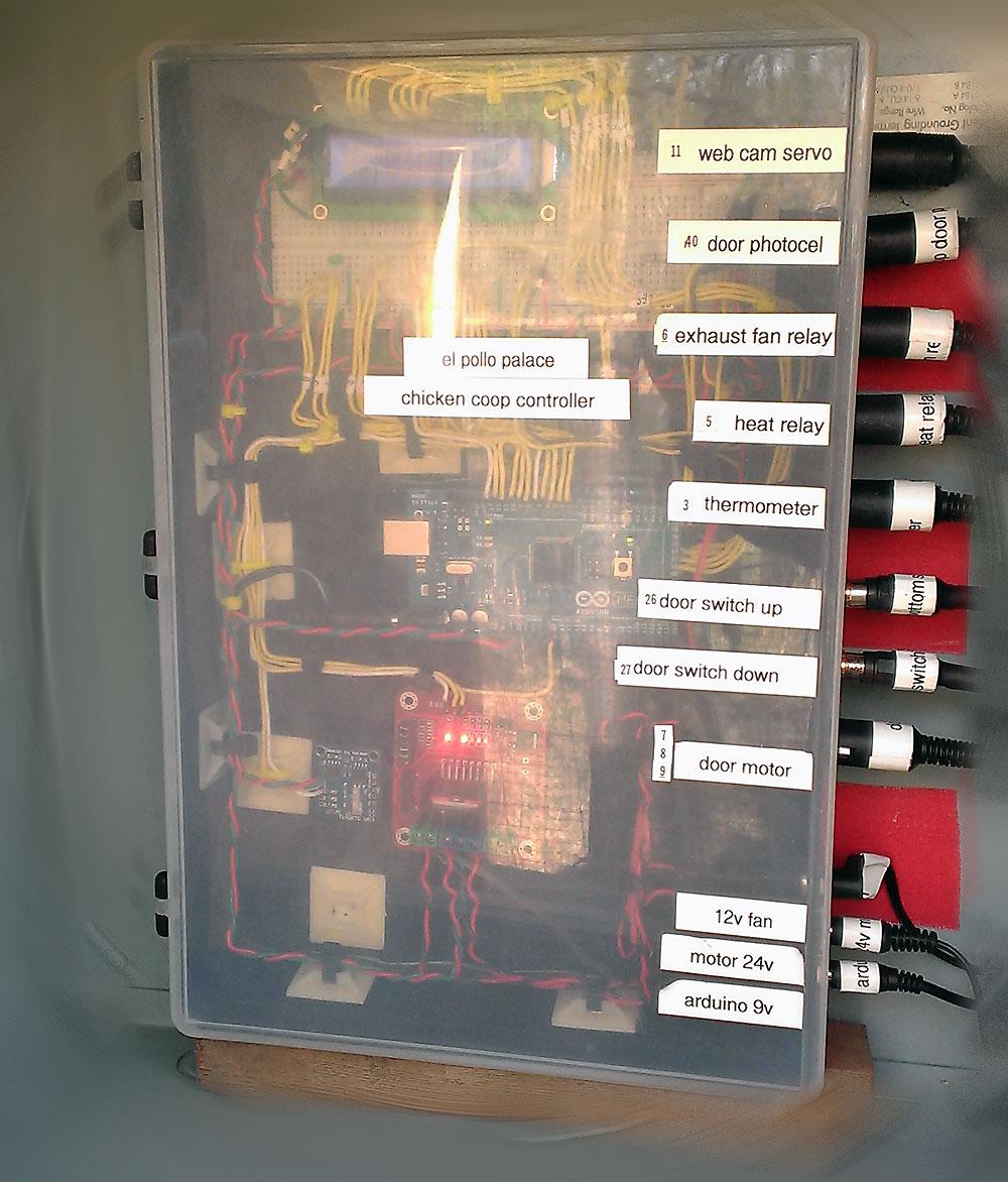 Arduino Chicken Coop Controller with Door