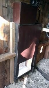 Arduino Chicken Door: installed