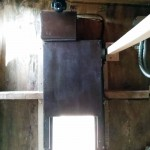 Arduino Chicken Coop Door -installed interior