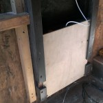 Arduino Chicken Door: installed - sans cover