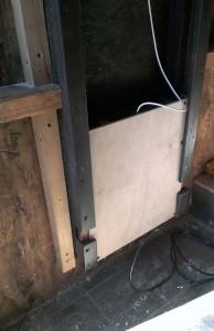 Arduino Chicken Door: installed - sans cover