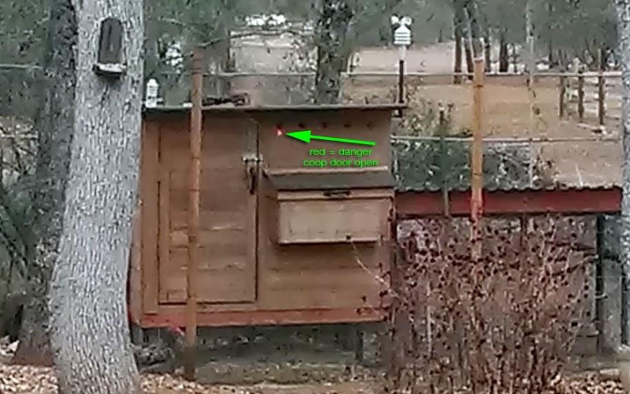 Chicken Coop Door Status LED Lights