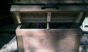 Chicken coop nesting box