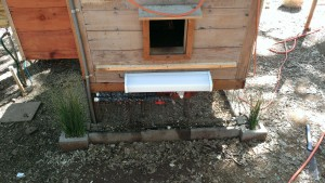 Chicken Coop Heater - Exterior Pipe Protection