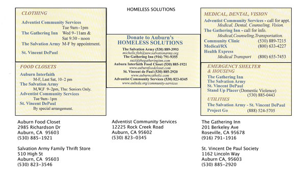Homeless Resources in Placer County